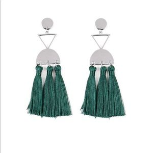 Tassel Trippin - Green Earrings